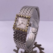blancpain vintage lady cocktail watch white gold and diamonds and yellow stones 3