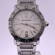 bulgari modern 2015 pearl dial bbl33s with box and papers 1