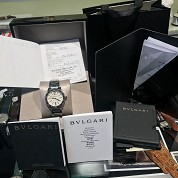 bulgari modern 2015 pearl dial bbl33s with box and papers 3