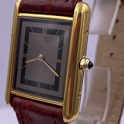 cartier tank must gold plated quartz 27080 cal 81 quartz 2