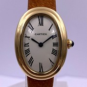 cartier vintage baignoire classic  not mini  gold mechanical 1