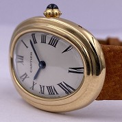 cartier vintage baignoire classic  not mini  gold mechanical 5