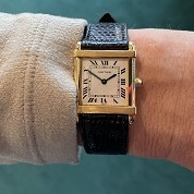 cartier vintage tank chinoise quartz gold 18ct 1