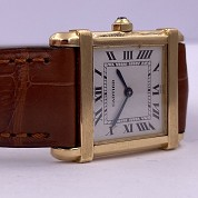 cartier vintage tank chinoise quartz gold 18ct 4