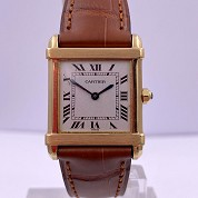 cartier vintage tank chinoise quartz gold 18ct 5