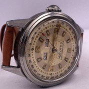 movado vintage 1960 calendomatic triple date steel ref 4456 screwed back 2