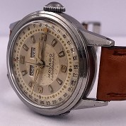 movado vintage 1960 calendomatic triple date steel ref 4456 screwed back 4