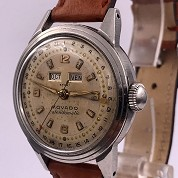 movado vintage 1960 calendomatic triple date steel ref 4456 screwed back 5