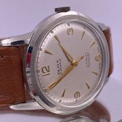 olma vintage 1956 calatrava manual rewind eta 2370 with original warranty paper 5
