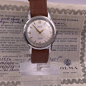 olma vintage 1956 calatrava manual rewind eta 2370 with original warranty paper 6