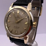omega vintage 1952 seamaster calendar automatic bumper date honeycumb dial ref 2627 8 sc cal 353 4