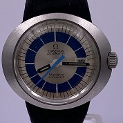 omega vintage 1970 dynamic lady blue and silver dial st566015 1