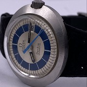 omega vintage 1970 dynamic lady blue and silver dial st566015 2