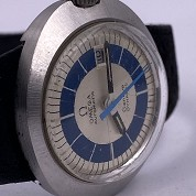 omega vintage 1970 dynamic lady blue and silver dial st566015 5