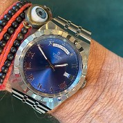 tudor modern 2021 royal blue 41mm day date 28600 integrated bracelet full set 1