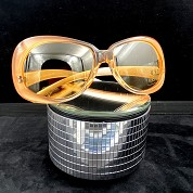 vintage versace 1980s 1990s sunglasses nos new old stock never worn mod 739 coloris 359 orange 1