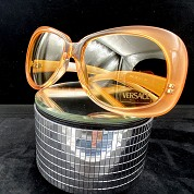vintage versace 1980s 1990s sunglasses nos new old stock never worn mod 739 coloris 359 orange 2