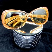 vintage versace 1980s 1990s sunglasses nos new old stock never worn mod 739 coloris 359 orange 4