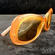 vintage versace 1980s 1990s sunglasses nos new old stock never worn mod 739 coloris 359 orange 5