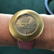 yves saint laurent vintage ysl seventies rare mechanical gold plated 1