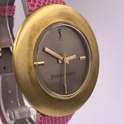 yves saint laurent vintage ysl seventies rare mechanical gold plated 3