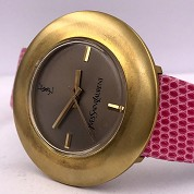 yves saint laurent vintage ysl seventies rare mechanical gold plated 4
