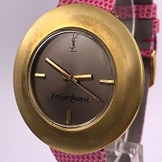 yves saint laurent vintage ysl seventies rare mechanical gold plated 5